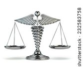 medicine and justice. caduceus... | Shutterstock . vector #232583758