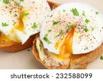 Poached Eggs On Toasted...