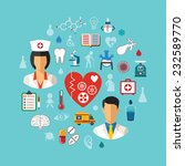 vector healthcare concept with... | Shutterstock .eps vector #232589770
