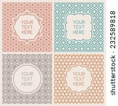 vector outline hipster style... | Shutterstock .eps vector #232589818