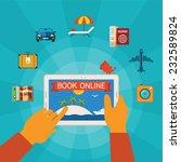 online booking vector concept... | Shutterstock .eps vector #232589824