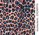 trendy vector leopard print... | Shutterstock .eps vector #232589974