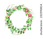 watercolor vintage wreath with... | Shutterstock .eps vector #232590814