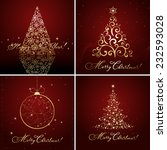 set of christmas designs  vector | Shutterstock .eps vector #232593028