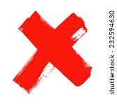 x   red handwritten letter on... | Shutterstock .eps vector #232594630