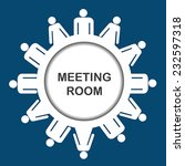meeting room icon | Shutterstock .eps vector #232597318