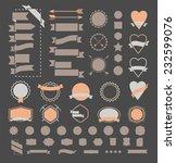 huge set of vintage vector... | Shutterstock .eps vector #232599076