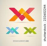 vector origami icons. design...   Shutterstock .eps vector #232602244