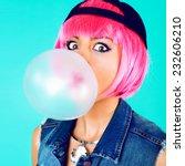 close up funny fashion portrait ... | Shutterstock . vector #232606210