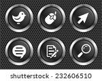 internet on black round buttons | Shutterstock .eps vector #232606510