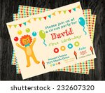 circus party card design for... | Shutterstock .eps vector #232607320