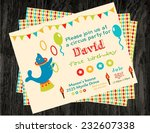 circus party card design for... | Shutterstock .eps vector #232607338