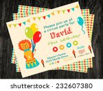 circus party card design for... | Shutterstock .eps vector #232607380
