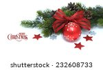 decorated christmas ball with... | Shutterstock . vector #232608733
