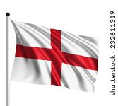 england flag with fabric... | Shutterstock . vector #232611319