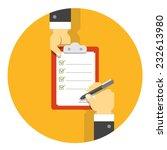 vector flat agreement... | Shutterstock .eps vector #232613980