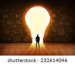 business man looking at bright... | Shutterstock . vector #232614046