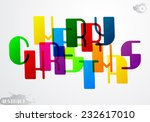 the inscription merry christmas ... | Shutterstock .eps vector #232617010