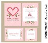 wedding invitation. vector | Shutterstock .eps vector #232617463