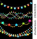 set of colorful christmas... | Shutterstock .eps vector #232620328