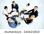 successful business team at the ... | Shutterstock . vector #232621810