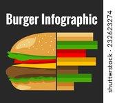 hamburger flat infographic... | Shutterstock .eps vector #232623274