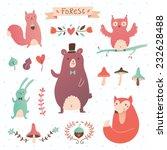 forest vector set. illustration ... | Shutterstock .eps vector #232628488