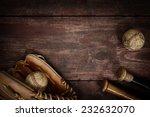 Old Vintage Baseball Backgroun...