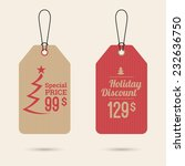 set price tag with ribbons and... | Shutterstock .eps vector #232636750