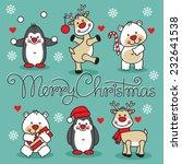 set cute cartoon animals with...   Shutterstock .eps vector #232641538