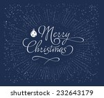 blue christmas background with... | Shutterstock .eps vector #232643179