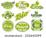 eco bio natural logos in... | Shutterstock .eps vector #232645399