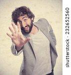 young crazy man dancing   Shutterstock . vector #232652560