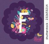 vintage floral hand drawn... | Shutterstock .eps vector #232653214