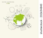environmentally friendly world. ... | Shutterstock .eps vector #232654840