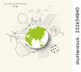 environmentally friendly world. ... | Shutterstock .eps vector #232654840