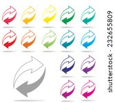 colorful arrow icon set on... | Shutterstock .eps vector #232655809