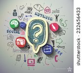social media collage with icons ... | Shutterstock .eps vector #232656433