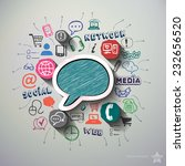 social network collage with... | Shutterstock .eps vector #232656520