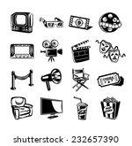 cinema vector icon set   Shutterstock .eps vector #232657390
