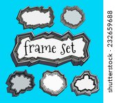 stone frames. vector image