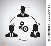 relationship of business people ... | Shutterstock .eps vector #232664458