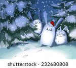 christmas illustration with... | Shutterstock . vector #232680808