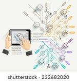 business network timeline... | Shutterstock .eps vector #232682020