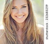 beautiful woman smiling | Shutterstock . vector #232683259