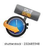speed dating watch illustration ...   Shutterstock .eps vector #232685548