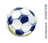watercolor soccer ball | Shutterstock .eps vector #232687558
