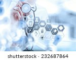 smart medical doctor working... | Shutterstock . vector #232687864