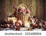 Christmas Basket With Vintage...