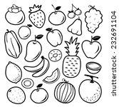 fruit icon vector | Shutterstock .eps vector #232691104
